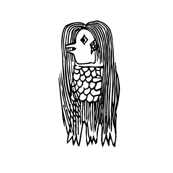 アマビエ「肥後国海中の怪」(作者: しろくまさん) | 巷で噂の妖怪アマビエ! | 高級交際クラブTen Carat「10カラットブログ」